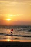Windsurfing in Jericoacoara Royalty Free Stock Photo