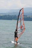 Windsurfing, Jeziorny Bourget - Aix les Bains Savoie, Francja - Zdjęcia Royalty Free