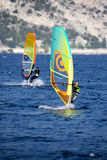 Windsurfing, Lago di Garda, Italy Stock Photo