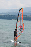 Windsurfing, Lake Bourget - Aix les Bains Savoie - France Royalty Free Stock Photos