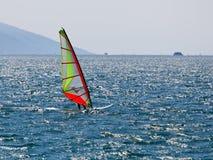 Windsurfing on Lake Garda Stock Image