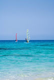 Windsurfing in Lefkada Royalty Free Stock Photography