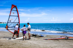 Windsurfing Lesson Stock Images