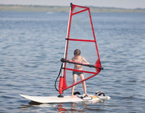 Windsurfing for little Royalty Free Stock Photography