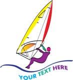 Windsurfing logo Royalty Free Stock Photo