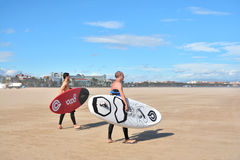 Windsurfing on Malvarrosa beach, Valencia Stock Photography