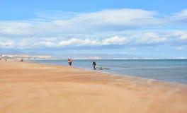 Windsurfing on Malvarrosa beach, Valencia Stock Photos