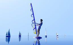 Windsurfing. Stock Image