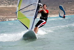 Windsurfing  on the move Stock Photography