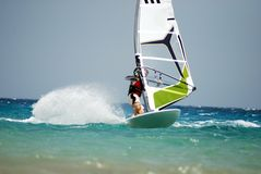 Windsurfing  on the move Royalty Free Stock Photos