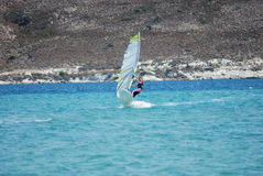 Windsurfing  on the move Royalty Free Stock Photography