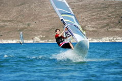Windsurfing  on the move Royalty Free Stock Image
