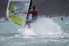 Windsurfing  on the move. Summer sport Stock Photography