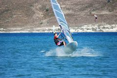 Windsurfing  on the move. Summer sport Stock Photos