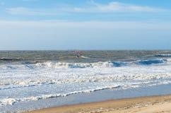 Windsurfing na północnym morzu Fotografia Royalty Free