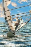 Windsurfing na tle morze i niebo Fotografia Stock