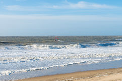 Windsurfing on the north sea Royalty Free Stock Photography
