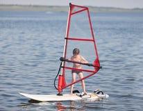 Windsurfing para pouco Fotografia de Stock Royalty Free