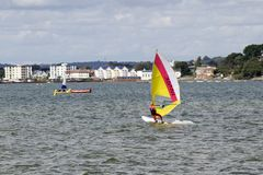 Windsurfing in Poole Harbour Stock Image