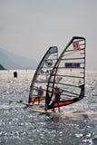 Windsurfing regatta royalty free stock photography