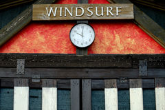 Windsurfing rent and sale office Stock Photos