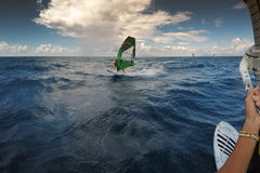 Windsurfing in Rhodes, Greece Stock Images