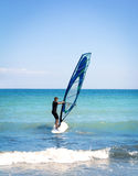 Windsurfing sails on the blue sea Royalty Free Stock Images