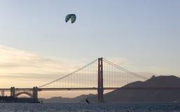 Windsurfing, San Francisco Bay Royalty-vrije Stock Afbeelding