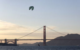 Windsurfing, San Francisco Bay Royalty Free Stock Image