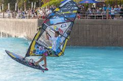 Windsurfing session in Siam park. PWA2014 Tenerife Stock Photos