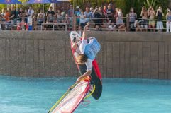 Windsurfing session in Siam park. PWA2014 Tenerife Stock Images