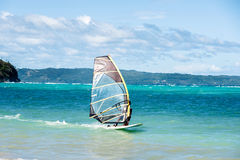 windsurfing Sport extrême, active, concept sain de mode de vie Photo stock