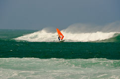 Windsurfing the storm Royalty Free Stock Photo