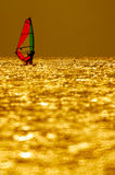 Windsurfing sunset Stock Photography