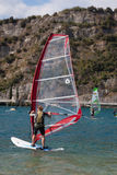 Windsurfing on Torbole Lake Garda, Italy Stock Images