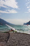 Windsurfing on Torbole Lake Garda, Italy Stock Image