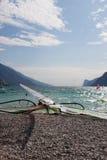 Windsurfing on Torbole Lake Garda, Italy Stock Image
