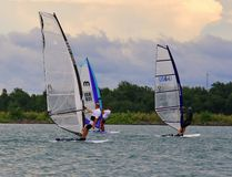 Windsurfing venue Stock Images