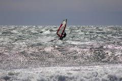 Windsurfing w morzu Obraz Stock