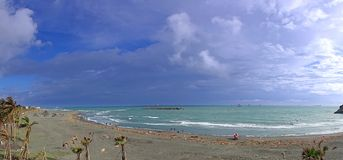 Windswept Beach Panorama Royalty Free Stock Image