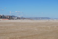 The windswept beach of Pescara Stock Images