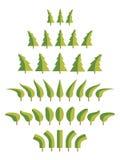 Windswept bomen Royalty-vrije Stock Foto's