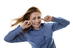 Windswept hair Stock Image