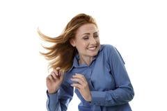 Windswept hair Stock Photos