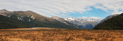 Windswept plains near Arthurs Pass Stock Photo
