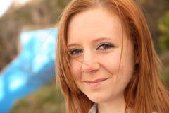 Windswept redhead Stock Image