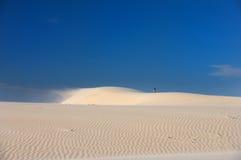 Windswept Sand Dunes On A Blue Sky Stock Photography