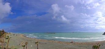 Windswept Strand-Panorama Lizenzfreies Stockbild