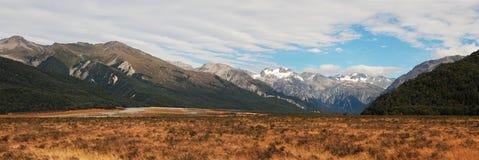 Windswept vlaktes dichtbij Pas Arthurs stock foto