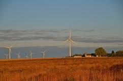 Windtorens in de Horizon Stock Foto